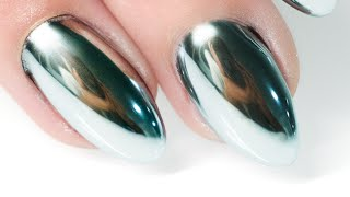 getlinkyoutube.com-MIRROR POWDER NAILS Step by Step - Nails 21