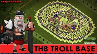 getlinkyoutube.com-Clash of Clans | Phenomenal TH8 Troll Base | The Colosseum | + Funny CoC Defensive Replays [2016]