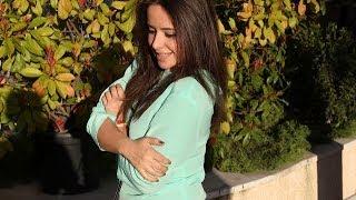getlinkyoutube.com-Como hacer una blusa con mangas verde mint muy fácil