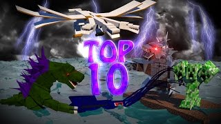 getlinkyoutube.com-Minecraft TOP 10 | Modded Top 10 Bosses - Ultimate Bosses! (Mobzilla, Hydra, 3 Headed Creeper)