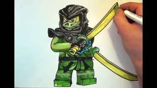getlinkyoutube.com-How to draw Ninjago  #Morro# LEGO