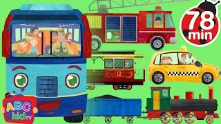 getlinkyoutube.com-Wheels on the Bus and Vehicles |+ More Nursery Rhymes & Kids Songs - ABCkidTV