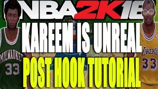 getlinkyoutube.com-Kareem is Unstoppable! Skyhook/Hookshot Tutorial (NBA 2K16 Kareem Abdul-Jabbar Gameplay)