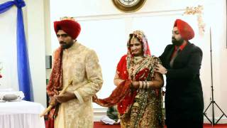 getlinkyoutube.com-My Sister's wedding highlights:Wedding Day - Anand Karaj (10min)