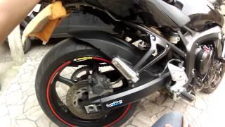 getlinkyoutube.com-Detalhes da FZ6N(RONCO ANIMAL) - Nova moto do Carlos - Ex Comet GTR 250