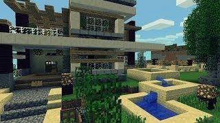 getlinkyoutube.com-Super Hiper Mega Genial Casa Moderna para Minecraft PE   ESPECIAL 300 SUSCRIPTORES
