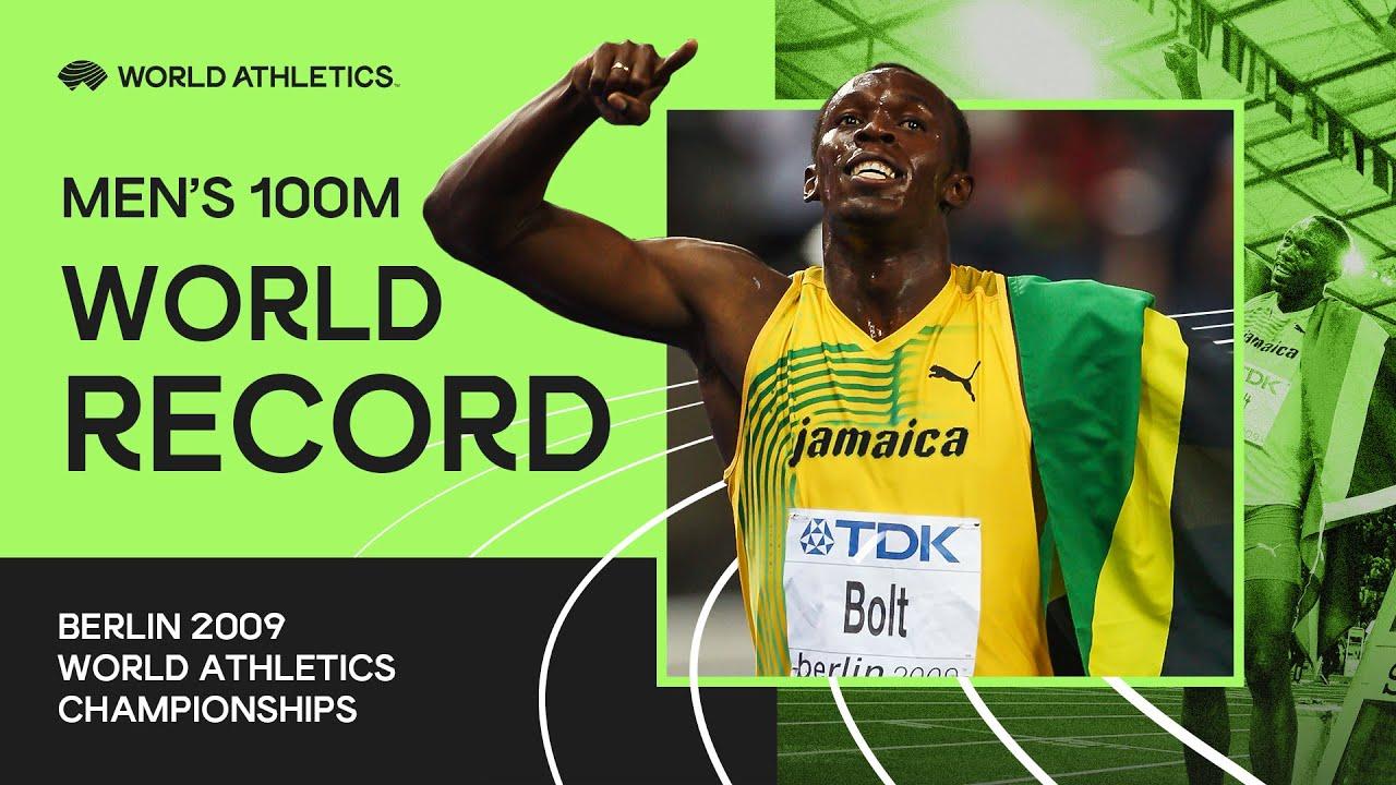 Usain Bolt - 100m New World Record, 9.58s