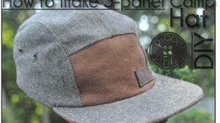 getlinkyoutube.com-How to make 5 panel Camp Hat | ProperFit DIY