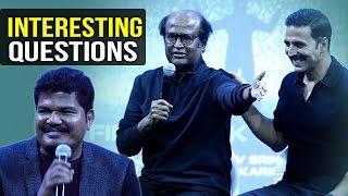 getlinkyoutube.com-Media Asks Interesting Questions To 2.0 Team | Rajinikanth | Akshay Kumar | Shankar | TFPC