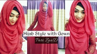 getlinkyoutube.com-Hijab Style with Gown Covering chest | Pari ZaaD