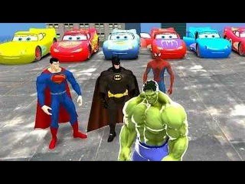 Superman, Batman, ...-man & ... Custom Lightning Mcqueen Cars