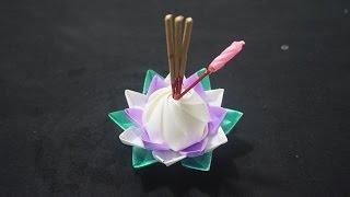 """getlinkyoutube.com-ทำ """"กระทง"""" จากริบบิ้น วันลอยกระทง ( Loy Krathong Day )"""