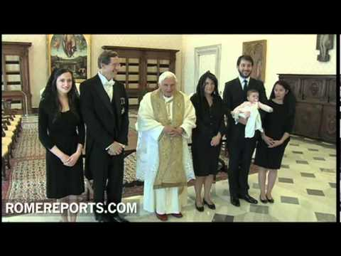 Pope receives Bruno Joubert  the new French ambassador to the Holy See