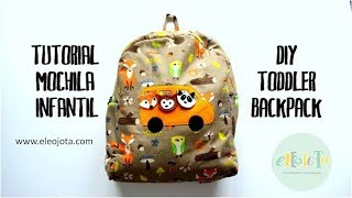 getlinkyoutube.com-Tutorial mochila infantil - DIY toddler backpack