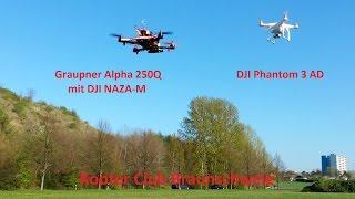 getlinkyoutube.com-DJI Phantom 3 Advanced & Graupner Racer Alpha 250Q mit NAZA-M
