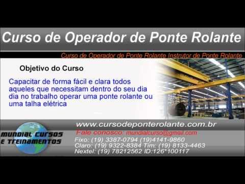 Curso de Operador de Ponte Rolante Instrutor de Ponte Rolante