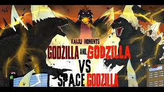 getlinkyoutube.com-GODZILLA AND GODZILLA VS SPACEGODZILLA!!!!  KAIJU MOMENTS # 30