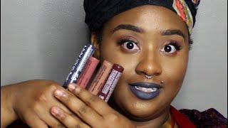 getlinkyoutube.com-Nyx Suede Cream Lipstick Demo | First Impression