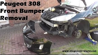 Peugeot 308 Front Bumper Removal Guide