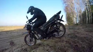 getlinkyoutube.com-Romet ADV 125 Enduro 13. 02. 2016r. Dębno