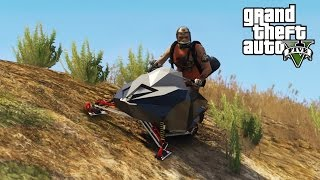 getlinkyoutube.com-SNOWMOBILING OFF A MOUNTAIN (GTA 5 PC Mods & Funny Moments)