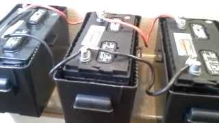 getlinkyoutube.com-Installing 4kW/Hr battery bank with 800W 120V Inverter and Trickle Charger from Tactical Woodgas