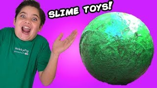 Biggest Booger Ball! Toxic Slime Egg + Prank. Sour Candy n' Smashing Farts by HobbyKidsTV
