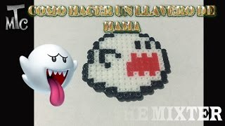 getlinkyoutube.com-Como Hacer Un Fantasma boo (Super Mario Bros) | Tutorial de Hama Beads | The Mixter Channel