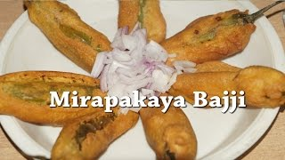 getlinkyoutube.com-How to Prepare Mirapakaya Bajji or Mirchi Bajji in Telugu by Siri@siriplaza.com