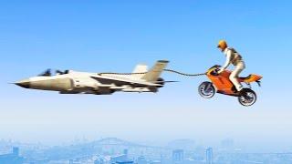 getlinkyoutube.com-FLYING BIKES vs. JETS! (GTA 5 Funny Moments)