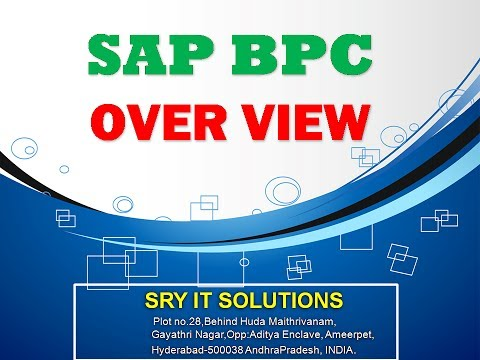 SAP BPC ONLINE TRAINING | BPC OVER VIEW | BPC TRAINING DEMO | BPC VIDEO