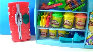 getlinkyoutube.com-Unboxing PlayDoh SuperMarket Store Playset Food Refrigerator RARE Set Fruit Ice Cream