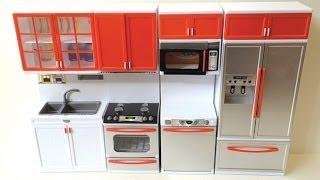 getlinkyoutube.com-Re-ment Miniature Modern Comfort Doll Kitchen