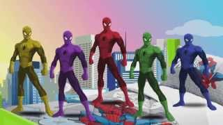 getlinkyoutube.com-Kids Song TV - Five Little Spiderman jumping on the Bed