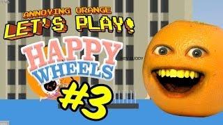 getlinkyoutube.com-Annoying Orange Let's Play Happy Wheels #3: Slappy Wheels