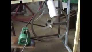 getlinkyoutube.com-BANDSAW MADE WITH BICYCLE WHEELS