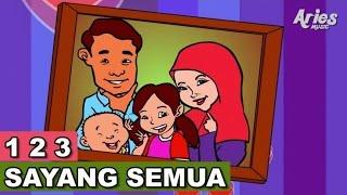 getlinkyoutube.com-Lagu Kanak Kanak Alif & Mimi - 1 2 3 Sayang Semuanya (Animasi 2D)