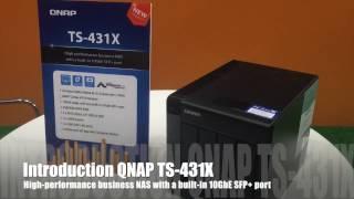 [CeBIT 2017] QNAP Business Class NAS - TS-431X