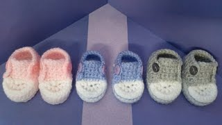 getlinkyoutube.com-How to crochet my easy petite converse style slippers part 3