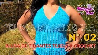 getlinkyoutube.com-Blusa de Tirantes tejido a crochet para cualquier talla paso a paso - TEJIDOS MILAGROS ENA
