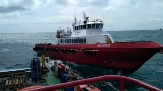Cuaca Exstream/Bad Weather 3kapal Crewboat ikat operasi Pabelokan ikat dibuoy