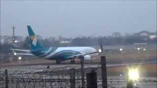 Oman Air Boeing 737 early morning Take-off From Mumbai Airport (CSIA)- Aviation Videos