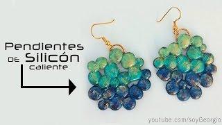 getlinkyoutube.com-PENDIENTES DE SILICÓN hot silicone earrings MANUALIDADES POR GEORGIO.