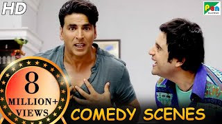 Akshay Kumar Comedy Scenes | Back To Back Comedy | Entertainment | Tamannaah Bhatia, Johnny Lever|HD