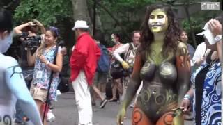 getlinkyoutube.com-BODY PAINTING NEW YORK CITY 2015