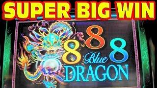 getlinkyoutube.com-888 Blue Dragon * SUPER BIG WIN * RETRIGGER MADNESS * Slot Machine Bonus Free Games