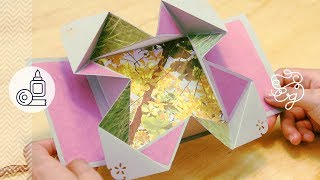 getlinkyoutube.com-Tarjeta Fold-Out EXPANDIBLE Scrap + origami = Regalo