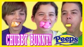 getlinkyoutube.com-CHUBBY BUNNY CHALLENGE!  | WITH PEEPS FOR EASTER!! |  KITTIESMAMA