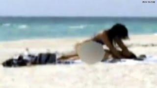 getlinkyoutube.com-Caught on tape: Couple has sex on public beach