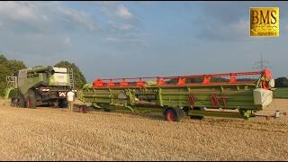 getlinkyoutube.com-Umzug der Giganten - Mähdrescher John Deere 685i und Claas Lexion 780 Combine harvester Gigantic